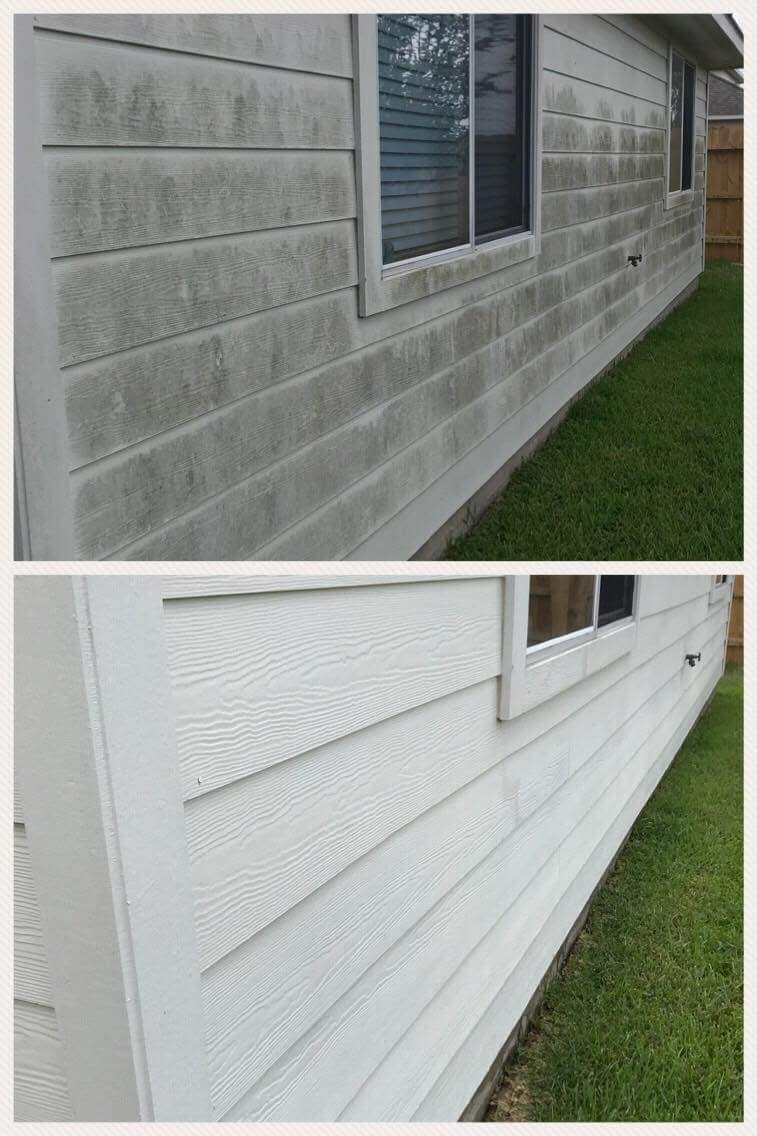 power washing house in fredericksburg va before and after